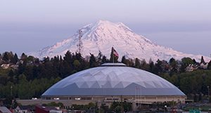 mount rainier and tacoma dome